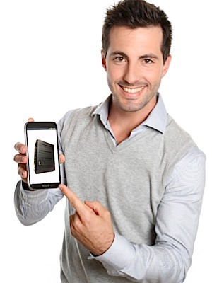 VidSimple Man Holding Phone