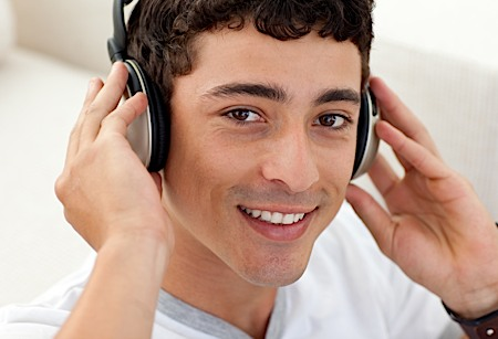 VidLauncher Man Wearing Headphones